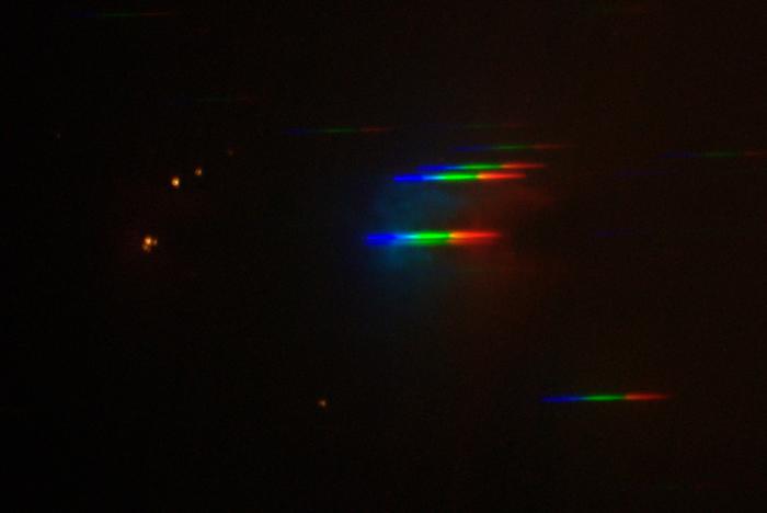 Orion Nebula, spectrum, slitless