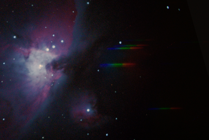 Orion Nebula plus spectrum
