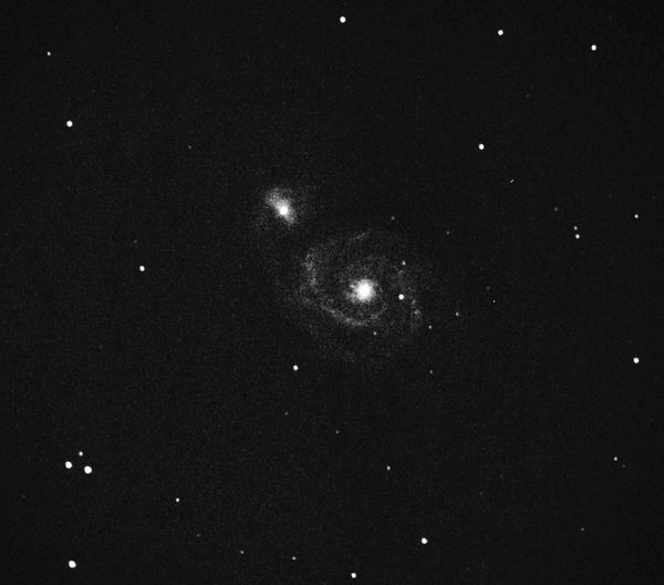 M51 Whirlpool galaxy and NGC 5195