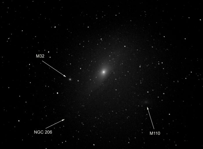 Andromeda galaxy M31 M32 M110 copy